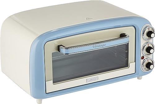 Ariete Vintage 979 Four Électrique design 18 L, Convient pour Pizza de 30 Cm, 1380 W, 3 Positions de Cuisson, Minuter...