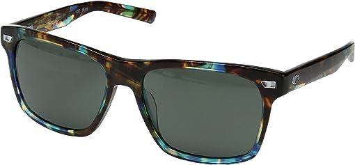 Shiny Ocean Tortoise Frame/Gray/Silver Mirror 580G