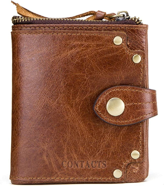 WFF Europäische und amerikanische Herrenbrieftasche Herrenbrieftasche Herrenbrieftasche aus Leder, Crazy Horse-Ledernieten, dekorative Geldbörse, multifunktionale Herrenbrieftasche aus Leder B07N4N5F6S 211b18