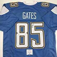 Autographed/Signed Antonio Gates Los Angeles LA Powder Blue Football Jersey Beckett BAS COA