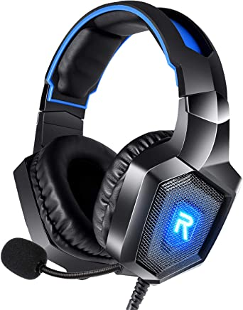 RUNMUS Gaming Headset PS4 Headset with 7.1 Surround...