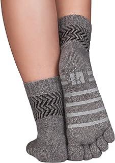 Knitido, calcetines invernales antideslizantes en lana merino y cachemira, sin ne suturas ni elástico