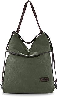 JOSEKO Canvas Tasche Segeltuch Vintage Rucksäcke Damen Schultertasche Handtasche Multifunktionsbeutel für Reise Outdoor Sc...