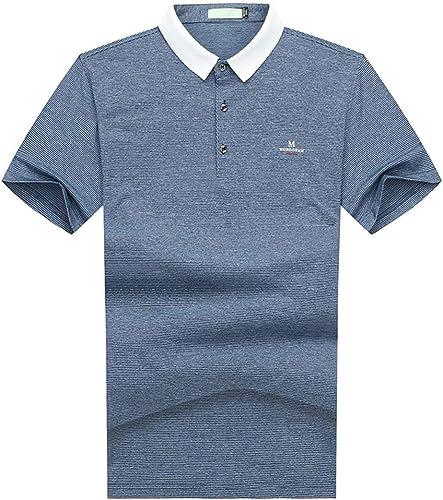 CZPF T-Shirt Compression Shirt pour Hommes Plol Plus Engrais t-Shirt à Manches Demi-Longues pour Hommes XL