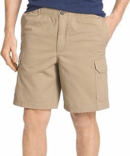 سروال قصير رجالي من نسيج قطني طويل مريح للخصر للمشي من ايزود مقاس 36