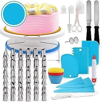 Límite-MX 106 Piezas Boquillas para Manga Pastel, Cake Suministros Herramientas de horneado con Boquillas de Tubería puntas de hielo, cepillo, bolsas de pastelería reutilizables,rascadores,para Decoración de Pasteles (Azul)
