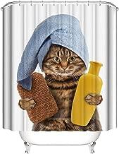 "A&S Creavention Bathroom Custom Cat Design Shower Curtain 70"" x 70"" Standard Size, 1pc 70"" x70"""