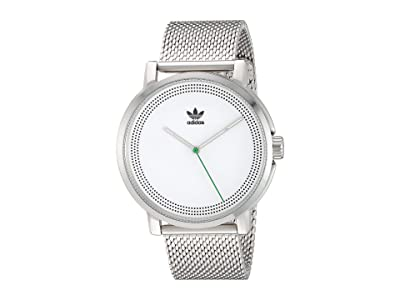 adidas District_M2 (Silver/White/Green) Watches