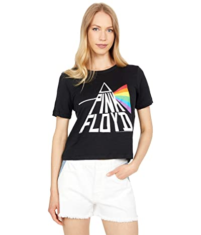Chaser Pink Floyd Prism Linen Jersey Cropped Short Sleeve Easy Tee