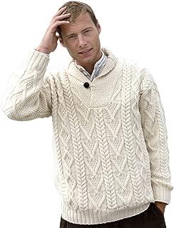Merino Wool Irish Fishermans Rib Sweater with Patches.