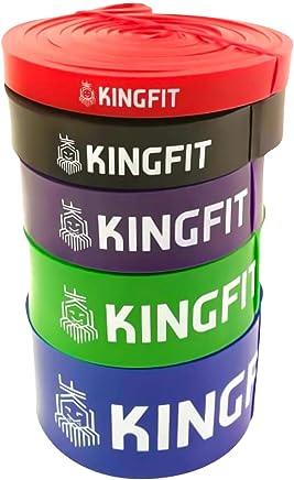 KINGFIT Bandes élastiques résistance élastiques Fitness Bande élastique Loop Bands pour Musculation, haltérophilie, Crossfit en Latex Naturel
