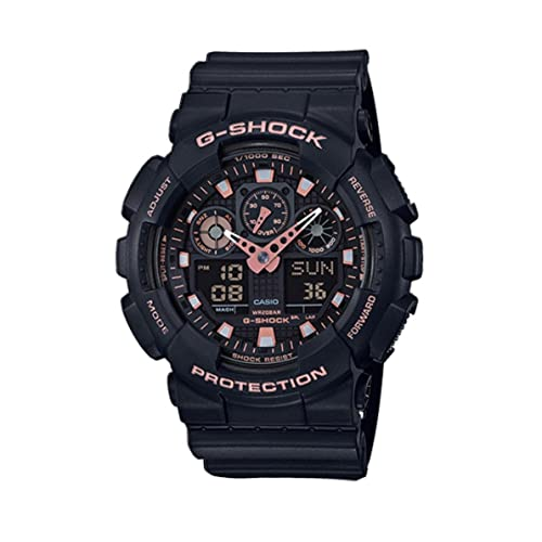 9ddc5a2c726 Casio G-Shock Black Rose Gold Analog Digital Watch GA100GBX-1A4