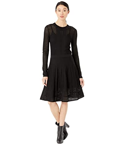 BCBGMAXAZRIA Day Short Sweaterdress (Black) Women
