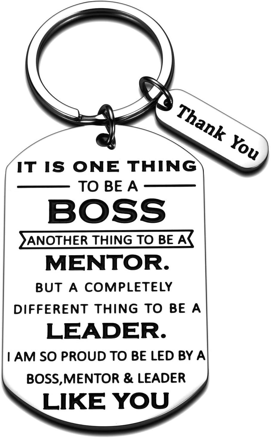 Boss Day Gifts for Women Men Office Keychain Thank You Boss Gift for Coworker Mentor Supervisor Leader Christmas Birthday Leaving Going Away Retirement Gifts Boss Lady Goodbye Gifts to Friend Him Her