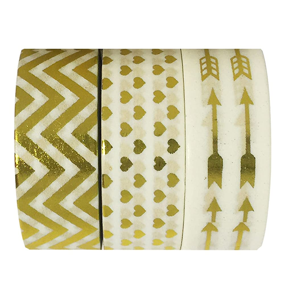 allydrew A70112 10M L x 15mm W Set of 3 Washi Masking Tape, Love is Complicated