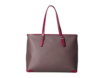 Lipault Paris Variation Shopper Tote (Grey/Raspberry) Handbags