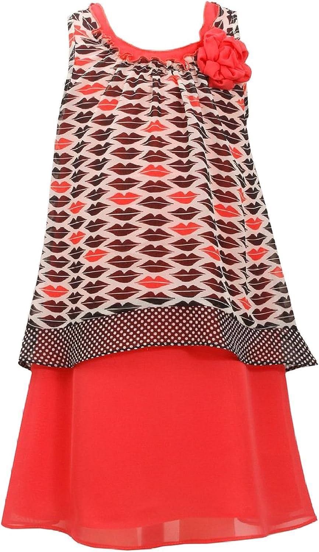 Bonnie Jean Big Girls Tween 7-16 Printed Chiffon Popover Social Dress
