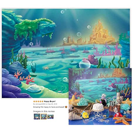 Little Mermaid Fishes Under the Sea Princess Photo Birthday Party Boot