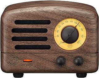 Muzen OTR WOOD WW Portable Wireless FM Radio and Bluetooth Speaker, Walnut Wood