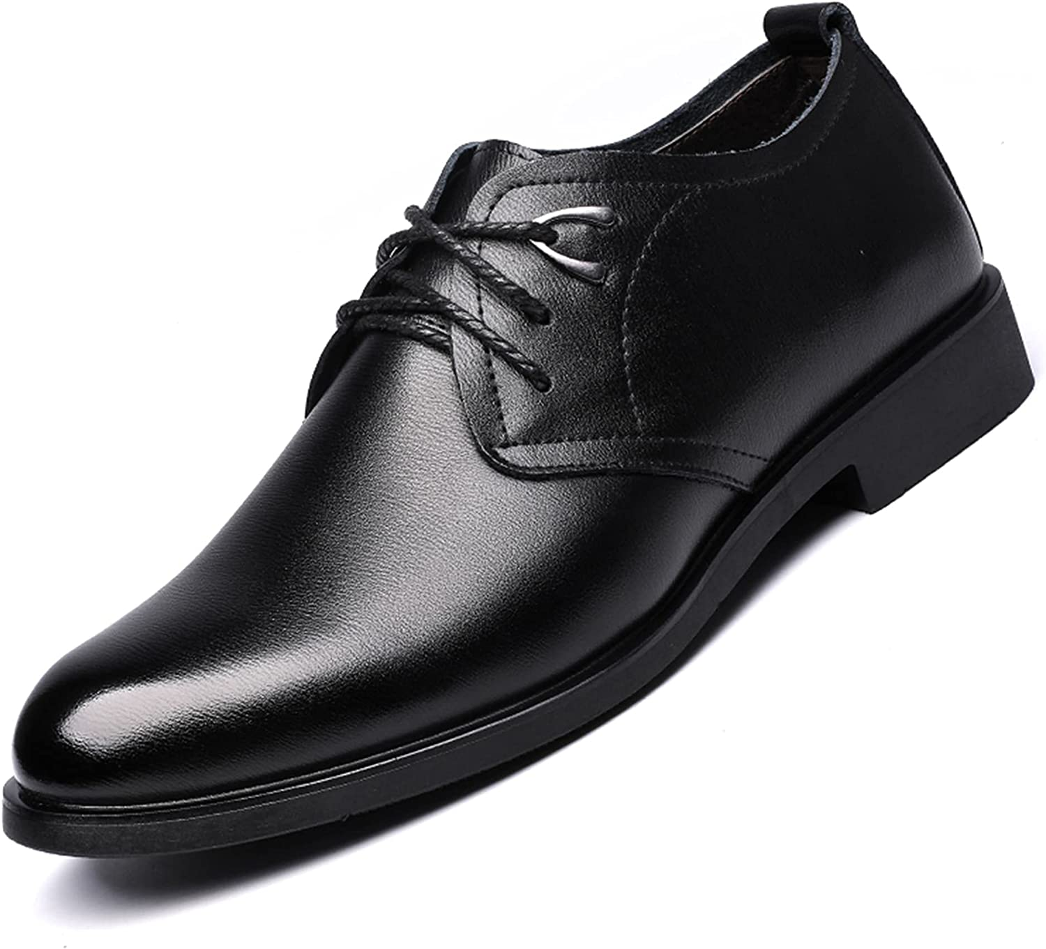 Men's Oxford Business Shoes Genuine Leather Lace-up Shoes Commuting Anti-Slip Breathable Dress Shoes