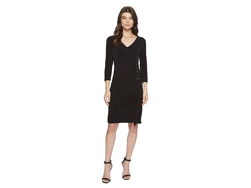 Calvin Klein Dress w/ Lacing on Side (Black) Women