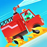 Dinosaur Fire Truck - Rescue Games for kids