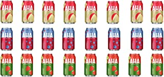 LUV BOX-Variety AHA Sparkling Water Pack , 12 oz , Pack of 24, APPLE + GINGER , STRAWBERRY CUCUMBER , BLUEBERRY POMEGRANATE