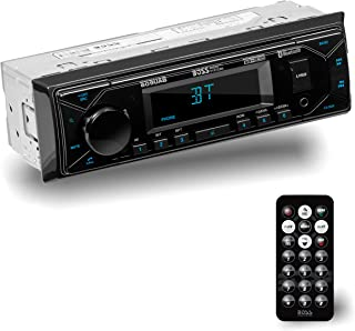 BOSS Audio Systems 609UAB Multimedia Car Stereo - Single Din, Bluetooth Audio and Hands-Free Calling, Built-in Microphone,...