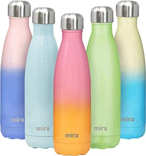 MIRA 17 Oz Stainless Steel Vacuum Insulated Water Bottle   Double Walled Cola Shape Thermos   24 Hours Cold, 12 Hours Hot   Reusable Metal Water Bottle   Leak-Proof Sports Flask   Star Fish