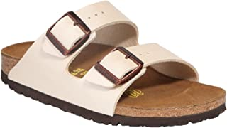 Birkenstock Womens Arizona Graceful Pearl White Birko-Flor Sandals 40 EU