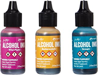 Ranger AAI-19787 Adirondack Alcohol Ink 1/2-Ounce, 3-Pack, Nature Walk, Wild Plum/Buttrscotch/Stream
