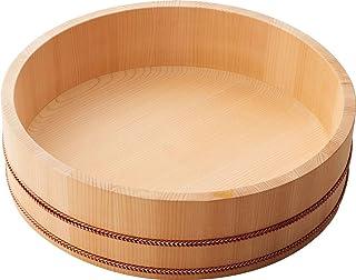 日々道具 飯台 5合 底丸 33cm 木製 日本製 ブラウン
