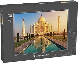 monpuzzlephoto Puzzle 2000 pièces Le Taj Mahal est Un mausolée de marbre Blanc Ivoire situé sur la Rive sud de la rivière ...