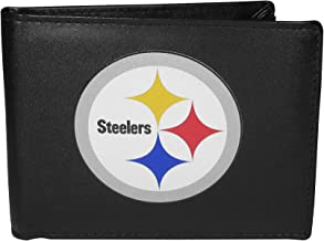 Siskiyou NFL Unisex Leather Bi-fold Wallet, Large Logo