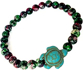 LAVIP Leather Turtle Agate Stones Beads Bracelet Stone Beads Religious Blessing Fashion Bracelet Collection
