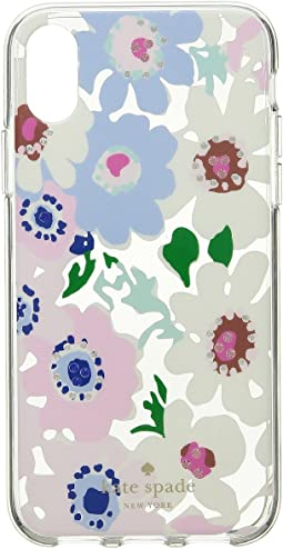 Jeweled Daisy Garden Clear Phone Case for iPhone X