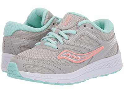 Saucony Kids S-Cohesion 12 LTT (Little Kid/Big Kid) (Grey/Turquoise) Girls Shoes