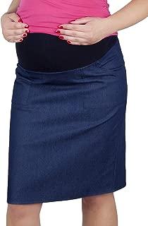 Mija – Maternity Pregnancy Denim Skirt with Soft Jersey Panel 3047