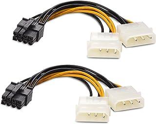 Cable Matters (2-pack) 8-stifts PCIe till Molex (2x) strömkabel - 10 cm