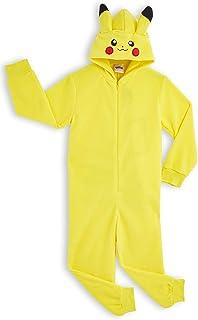 Pokèmon Pikachu Pijama Entero para Niños Niñas De Una Pieza, Cosplay, Pijama Animal Disfraz Go Capucha,Ropa de Dormir Invi...