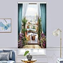 ستائر معتمة دوارة مصنوعة بطباعة ثلاثية الابعاد، ضد الماء لتغطية النافذة وتظليل الغرفة، لغرفة المعيشة وغرفة النوم (200×200 ...