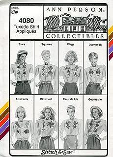 Stretch & Sew Women's Pattern 4080, Tuxedo Shirt Appliques