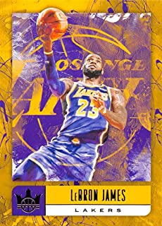 2018-19 Court Kings International Basketball #67 LeBron James Los Angeles Lakers Official Blaster Exclusive NBA Trading Card By Panini America