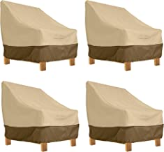 Classic Accessories Veranda Patio Deep Seat Lounge Chair Cover (4-Pack)