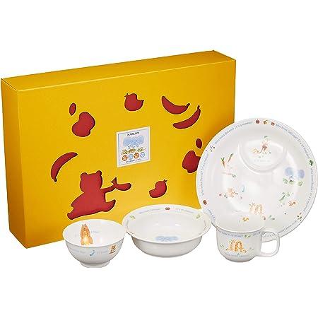 NARUMI(ナルミ) 子ども用 食器セット みんなでたべよっ! 4点セット 電子レンジ オーブン対応 日本製 40433-33139