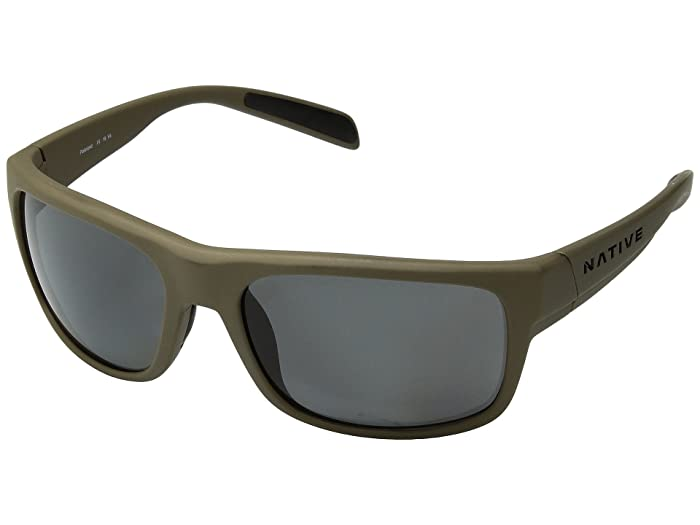 Native Eyewear Ashdown (Desert Tan/Gray Polarized Lens) Sport Sunglasses