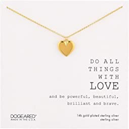Do All Things with Love, Large Heart Necklace