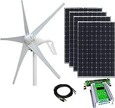 800W Wind & Solar Kit - 400W Wind Turbine + 4x100W Mono Solar Panel + 24V Hybrid MPPT Contr.