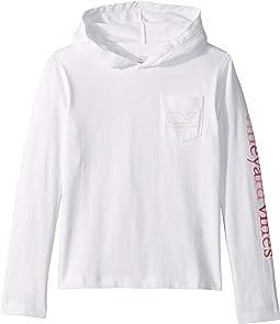 Long Sleeve Whale Hoodie T-Shirt (Toddler/Little Kids/Big Kids)