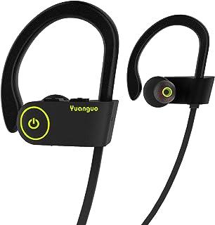 comprar comparacion HolyHigh Auriculares Bluetooth Deportivos,Auriculares Inalámbricos In-Ear Yuanguo2 Correr con Micrófono Anti-Sudor, Duraci...